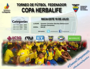 Herbalife doana 5000 uniformes a deportistas infantiles en ecuador